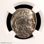 在世版古希腊马其顿王腓力二世四德拉克马银币