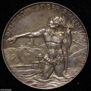 【德藏】德国1930年莱茵解放银章 卡尔哥茨作品