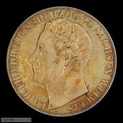 【德藏】德国1848年萨克森魏玛爱森纳赫2泰勒银币 PCGS MS63