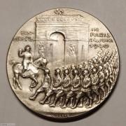 【德藏】德国1940年第三帝国军队挺进巴黎凯旋门银章 卡尔哥茨作品