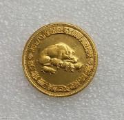 UNC  周大福 1975年  二师兄 猪 千足纯金司码伍钱 18.75 克 9999 金 银楼金币少见