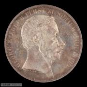 【德藏】德国1857年绍姆堡利普2泰勒银币 PCGS MS64