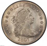 PCGS-MS65+ 1807 Draped Bust Quarter