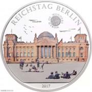 帕劳2017年世界奇观柏林国会大厦彩色银币