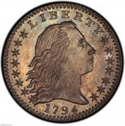 PCGS-SP67 1794 Flowing Hair Half Dime