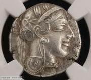 古希腊雅典城邦雅典娜和猫头鹰银币-NGC评级chAU 古典币老银币