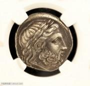 NGC评级古希腊银币亚历山大父亲腓利二世四德银币