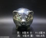 925银 小猪储蓄罐
