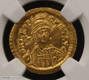 东罗马皇帝利奥一世索利多金币NGC评级MS级