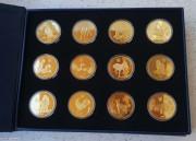 """朝鲜2013年""""中国十二生肖""""铜币12枚"""