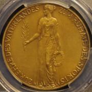 【德藏】德国1936年第三帝国纳粹柏林奥运会铜章 PCGS SP63