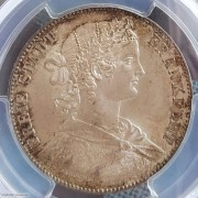 【德藏】德国1860年法兰克福少女1泰勒银币 PCGS MS64