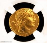 NGC评级古希腊巴克特里亚王国早期金币