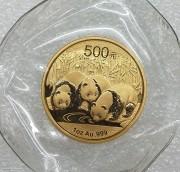 全品相  中国熊猫2013年500元大金币 1盎司31.1克999金