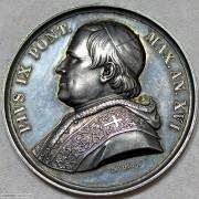 PROOF 1861年教皇庇护九世纪念银章