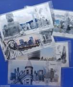 库克2017年城市地平线系列银版纪念钞票