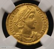 古罗马帝国君士坦提乌斯二世金币-NGC评级chAU