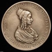 【德藏】德国1921-23年德紧威斯特法伦马币双面人像章