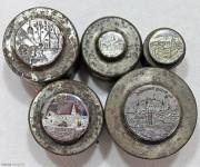 欧洲纪念币章单面模具5件