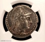 古希腊雅典新式猫头鹰银币-NGC评级