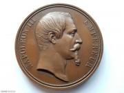 1855年 法国拿破仑三世 女王纪念铜章