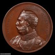 【德藏】英国1874年伦敦金融城大铜章 俄皇亚历山大二世访问伦敦大铜章 PCGS SP64