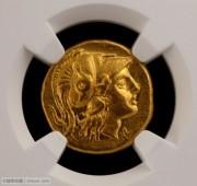 NGC评级古希腊亚历山大大帝雅典娜和胜利女神金币
