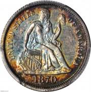 PCGS-PR64 1870 Liberty Seated Dime