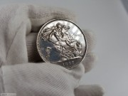 1887年英国 马剑银币 品相好 类镜面效果