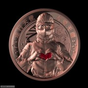 全新 逆行天使-大爱无疆紫铜纪念章