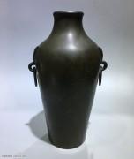 清 兽辅耳挂环 铜香瓶