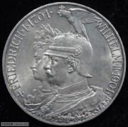 【德藏专卖】德国1901年普鲁士建国200周年5马克 UNC