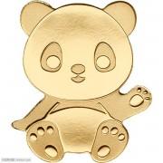 帕劳幸运钱币大熊猫仿真异形小金币