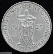 【德藏专卖】德国1925年魏玛共和国莱茵千年5马克