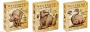 2014年 澳大利亚 巨型动物系列5枚一套 1元 精制银币 盒证齐全