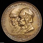 【德藏】德国1928年不莱梅号第一次欧洲美洲飞行纪念五彩银章 卡尔哥茨作品