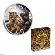 2016年 图瓦卢 动物幼崽系列 5枚一套 精制银币 盒证齐全