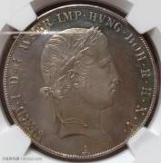 【德藏】奥地利1843年费迪南一世双头鹰泰勒 MS63