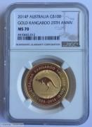 2014年澳大利亚袋鼠25周年1盎司金币
