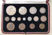 英國1937年精裝套幣共15枚