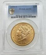 PCGS AU55 美国自由女神鹰1898-S年20元大金币33.43克900金 07925