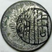 1882/1892年墨西哥鹰洋 周鋪+徐記金鋪墨戳