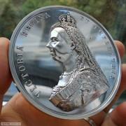 【德藏】英国1887年维多利亚登基50周年纪念大银章 原盒