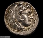 雕模精美巴比伦版古希腊亚历山大大帝大力神在世版银币