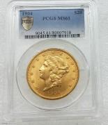 PCGS MS61  美国自由女神鹰1904年20元大金币33.43克900金 07918