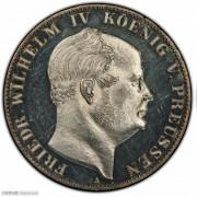【德藏】德国1861年普鲁士威廉四世精制泰勒 PCGS PR62CAM