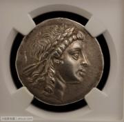 NGC评级古希腊伊奥利亚穆雷娜城太阳神四德银币