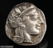 古希腊雅典城猫头鹰银币 雅典城守护神