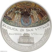 库克2017年圣维塔大教堂弧面彩色精制银币