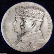 【德藏】英国1935年乔治五世乔五登基25周年纪念大银章 原盒